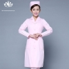 pink long sleevepedal collar long sleeve medical care uniform nurse coat drugstore coverall