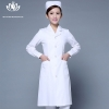 white long sleevepedal collar long sleeve medical care uniform nurse coat drugstore coverall