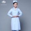 light blue long sleevepedal collar long sleeve medical care uniform nurse coat drugstore coverall