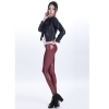 winesexy low waist PU leather young girls legging pant
