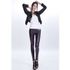 blackish purplesexy low waist PU leather young girls legging pant