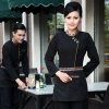 women blackcasual Asian style restaurant hotel clerk waiter uniform blouses