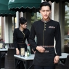 men blackcasual Asian style restaurant hotel clerk waiter uniform blouses