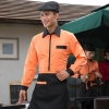 orange menrestaurants coffee bar waiter waitress uniform shirt + apron
