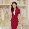 wine pant suitssummer collarless thin formal work pant suits for women