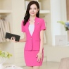 rose skirt suitssummer collarless thin formal work pant suits for women