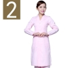 women pinkwinter high quality long sleeve front opening nurse doctor coat uniform