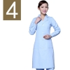 women light bluewinter high quality long sleeve front opening nurse doctor coat uniform
