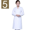 women white(elastic sleeve)winter high quality long sleeve front opening nurse doctor coat uniform