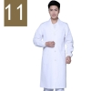 men white ( elastic sleeve)winter high quality long sleeve front opening nurse doctor coat uniform