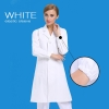 women long sleeve white(elastic sleeve)new arrival hospital notch lapel doctor coat nurse uniforms