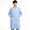 men long sleeve light blue(white collar)new arrival hospital notch lapel doctor coat nurse uniforms