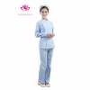 women light blue suitslong sleeve right opening nurse ICU hospital uniform coat and pant