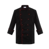 black(red button)Exclusive first level restaurant hotel kitchen chef's coat uniform discount