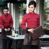 wine waitresshigh quality long sleeve shirt uniform for waiter waitress