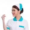 turquoise + white2015 fashion high quality nurse hat cap,multi designs