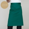 blackish greenclassic half length high quality chef aprons