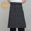 stripesclassic half length high quality chef aprons